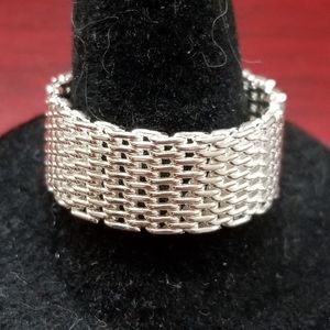 Sterling Silver Mesh Band